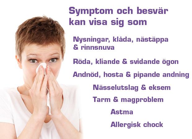 tecken på pollenallergi